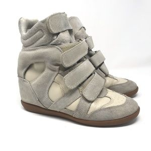 Isabel Marant Beckett suede leather wedge sneaker
